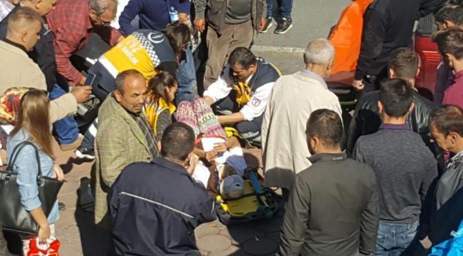 AVM'den kopan profil sokakta anne ve kızının üzerine düştü