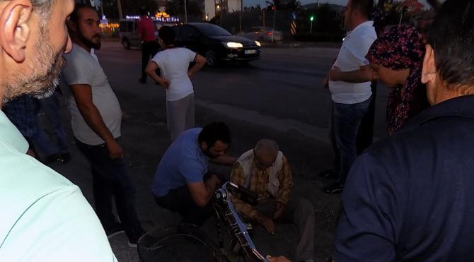 Otomobil bisiklete çarptı: 1 ağır yaralı