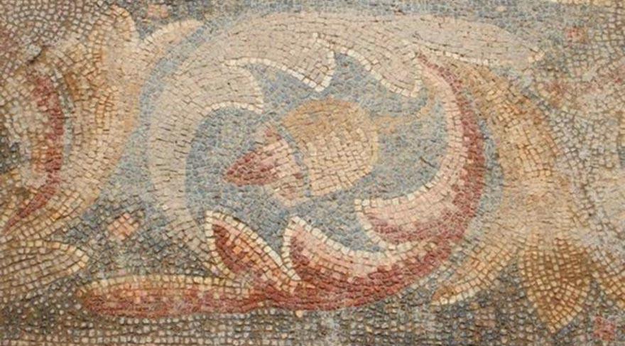 Yonca tarlasında 1400 yıllık mozaik bulundu