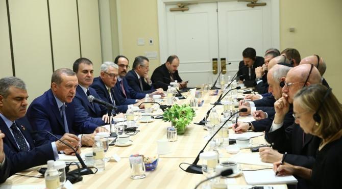 Erdoğan, ABD'deki Yahudi kuruluşların temsilcilerini kabul etti