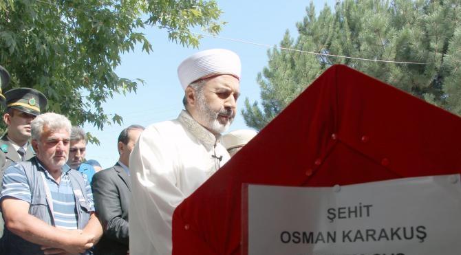 Suriye'de şehit edilen Uzman Çavuş Osman Karakuş son yolculuğuna uğurlandı