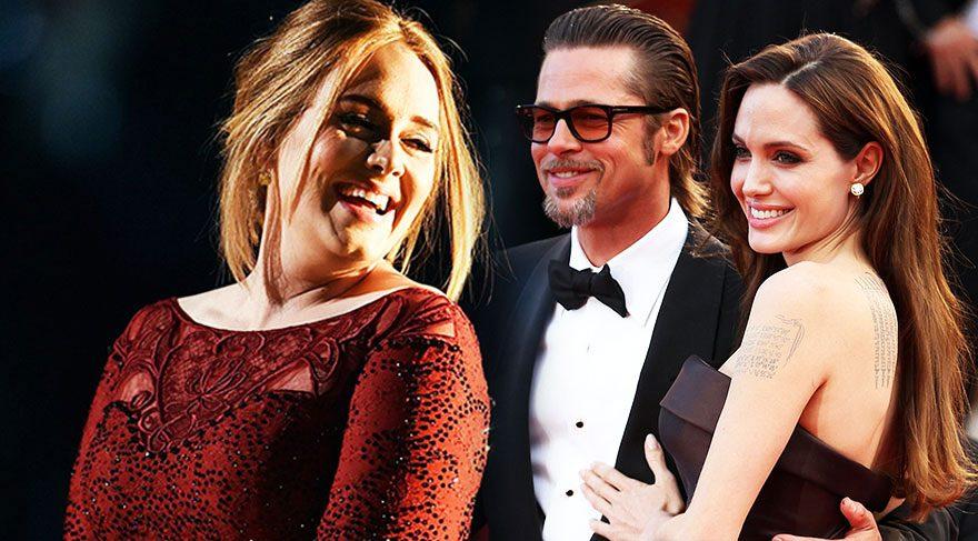 Adele, Brad Pitt ve Angelina Jolie ayrılığı hakkında konuştu