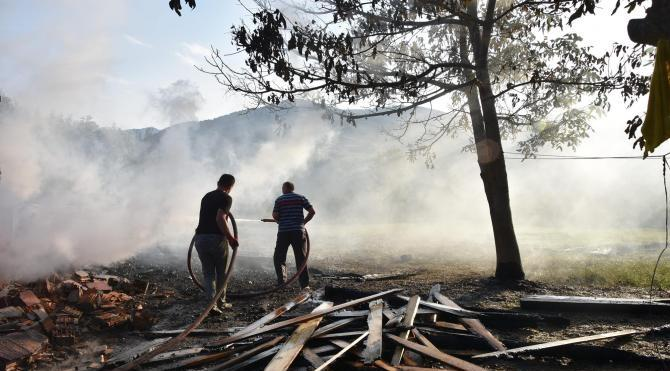 Sinop'un Erfelek İlçesi'nde iki ev kül oldu
