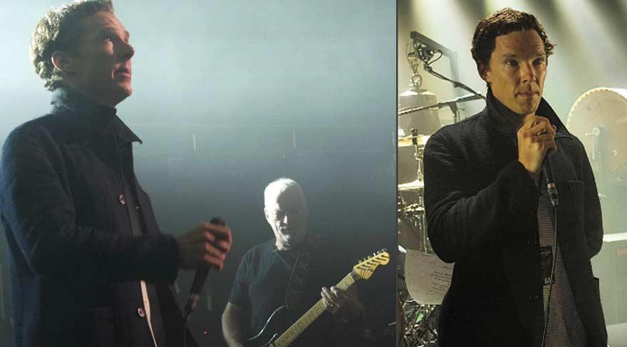 Benedict Cumberbatch, David Gilmour ile sahneye çıktı