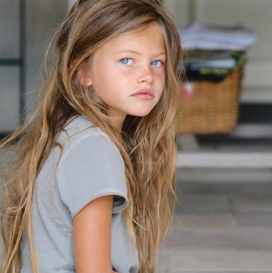 İlk defileye 4 yaşında çıkan Blondeu, bu fotoğrafta 6 yaşında...
