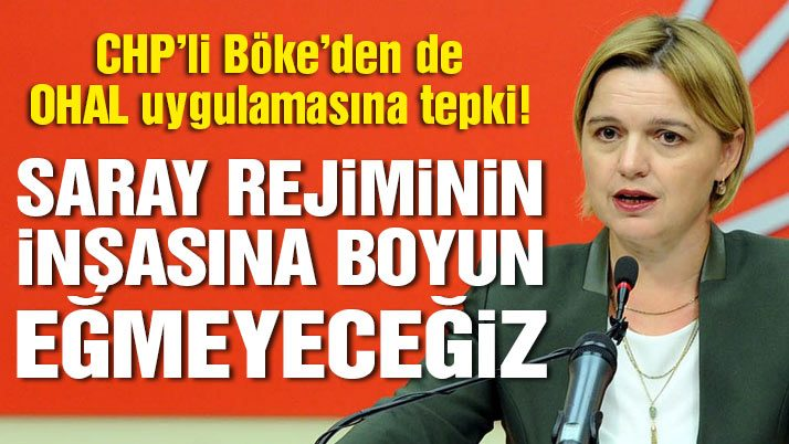 CHP'li Böke'den 'OHAL' açıklaması: AKP, milletin iradesini açıkça gasp ediyor