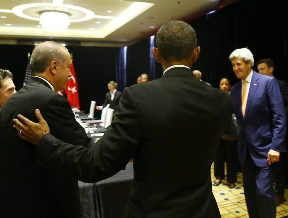 FOTO:DHA - Cumhurbaşkanı Erdoğan, Obama ile yaptıkları görüşmenin detaylarını anlattı.