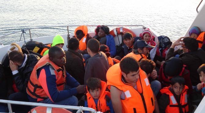 Ayvacık'ta 27 kaçak yakalandı