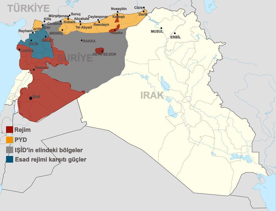 Fırat Kalkanı Harekatı öncesi sınır hattında IŞİD hakimiyeti vardı.