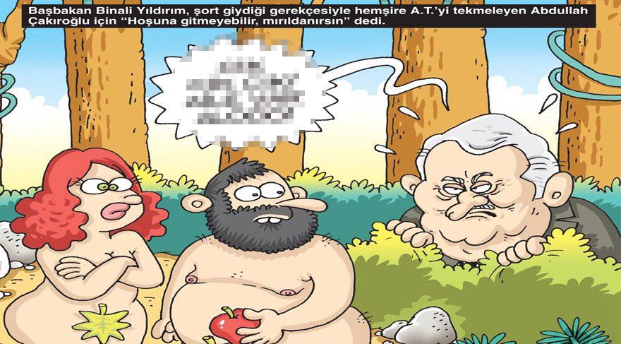 Gırgır'ın kapağında Başbakan Binali Yıldırım'ın tekmeci saldırganla ilgili açıklaması var