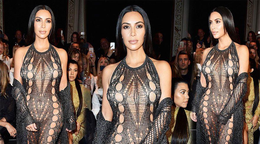 Kim Kardashian, Balmain defilesi görünümü