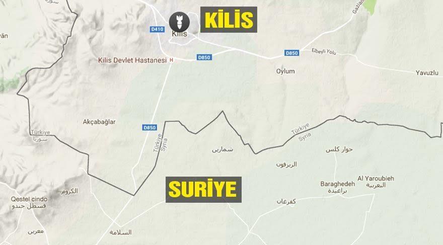 Kilis kent merkezi, Suriye sınırına yaklaşık 20 kilometre uzaklıkta bulunuyor.