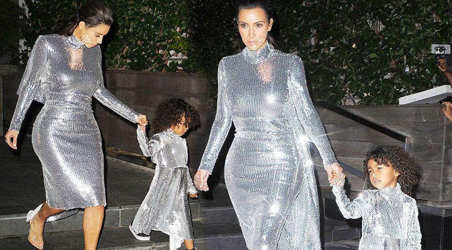 Kim Kardashian ve North West stilleriyle göz kamaştırdı