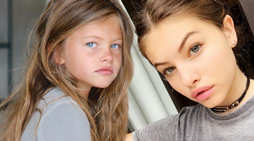 Tepki çeken model Thylane Bondeau 15 yaşında!