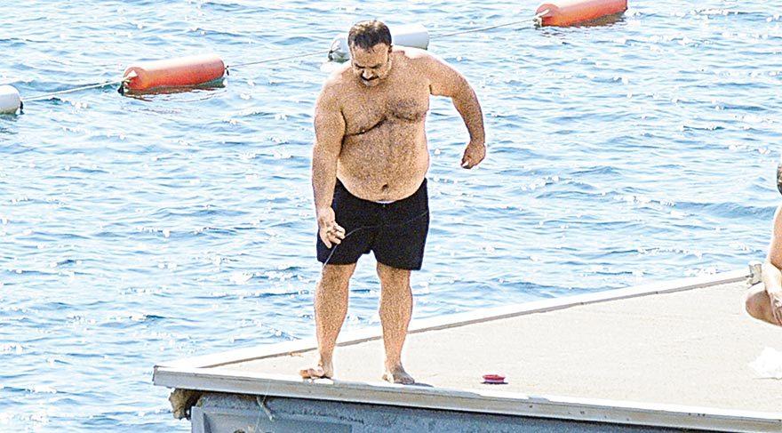 Bülent Serttaş, 5 yıldızlı otelde balık tuttu