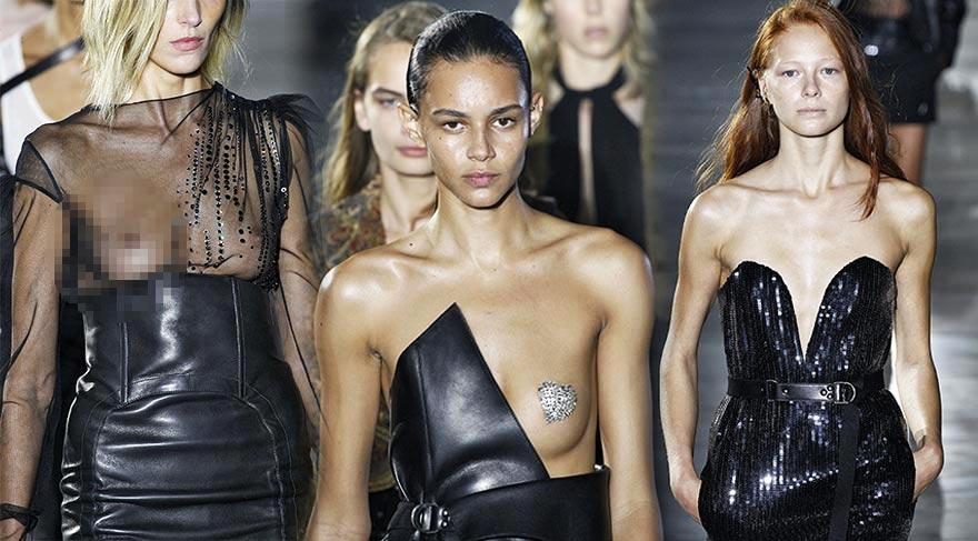 Saint Laurent Defilesi Paris Moda Haftası
