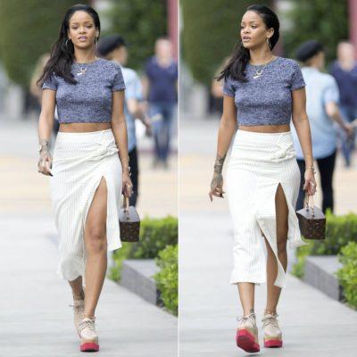 rihanna-jw-anderson-pinstriped-skirt