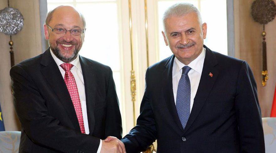 Başbakan Yıldırım, Avrupa Parlamentosu Başkanı Schulz ile görüştü