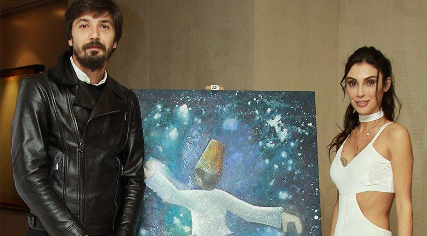 Serkan Balcı'nın ressam eşi Berfin Balcı'dan TOÇEV yararına sergi