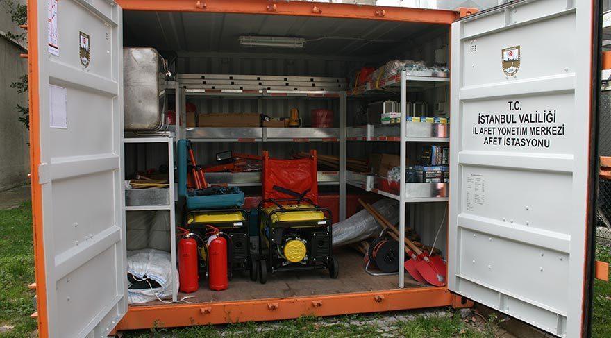 Deprem sonrası müdahalelere yardımcı olması planlanan konteynırların akibetin belli değil.