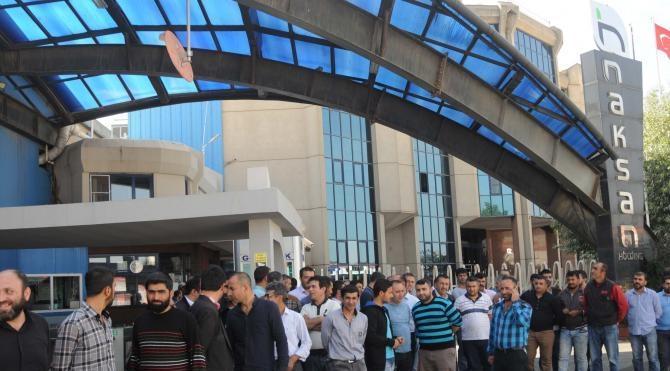 Gaziantep'te TMSF'ye devredilen holding çalışanlarının eylemi sürüyor