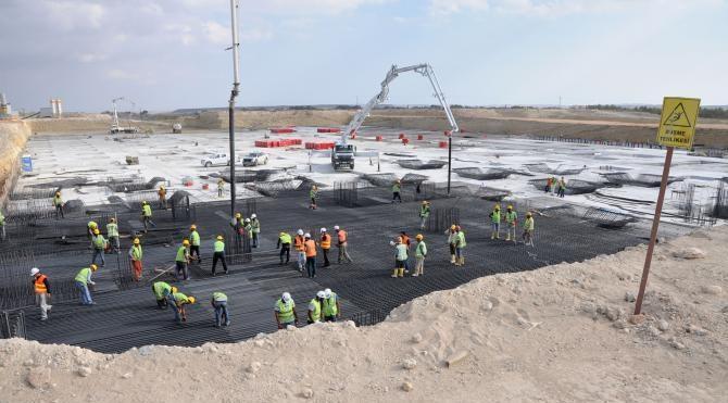 Bakan Arslan, KKTC'de Ercan Havalimanı ek terminalinin temel atma törenine katıldı