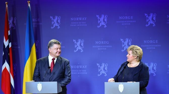 Ukrayna lideri Poroşenko'nun Norveç'e ilk resmi ziyareti