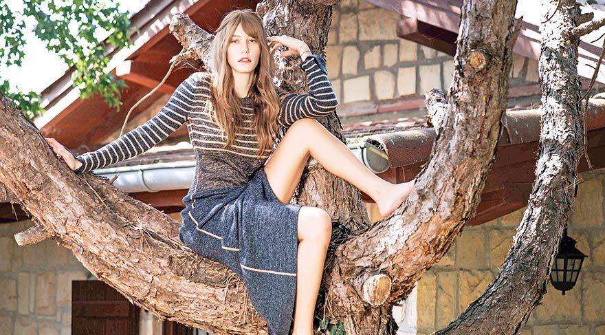 Serenay ağaca çıktı