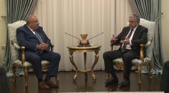 KKTC Cumhurbaşkanı Akıncı, Başbakan Yardımcısı Türkeş'i kabul etti