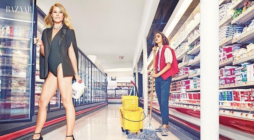 Süpermarkette seksi güzel