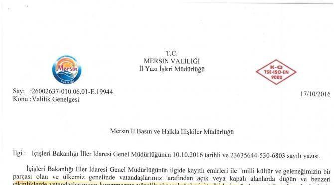 Mersin'de de sokak düğünlerı yasaklandı