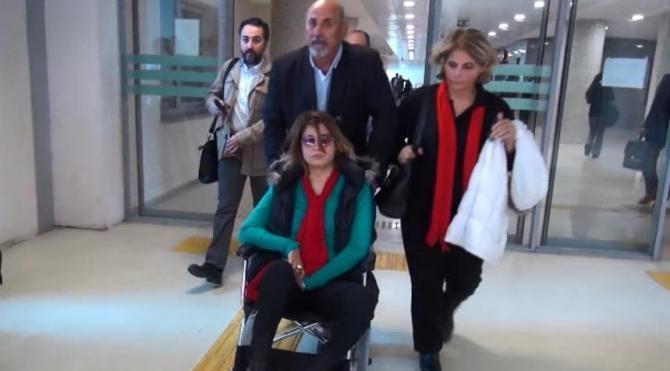 Spiker eşini döven kocanın yargılamasına devam edildi