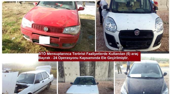 Diyarbakır'da bombalı saldırıda kullanılacak 5 araç ele geçti