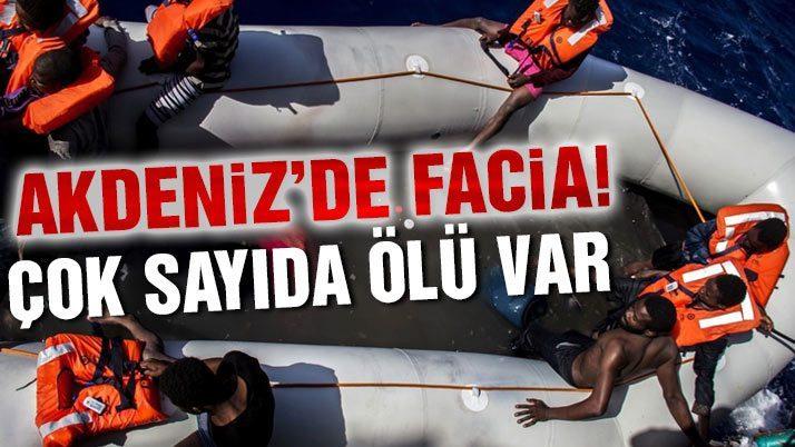 Akdeniz'deki bir şişme botun altında 25 kişi ölü bulundu
