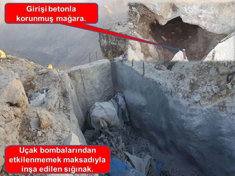 FOTO:DHA - Teröristler 2250 rakımlı bölgeye çimento çıkarıp siper bile inşa etmişler.