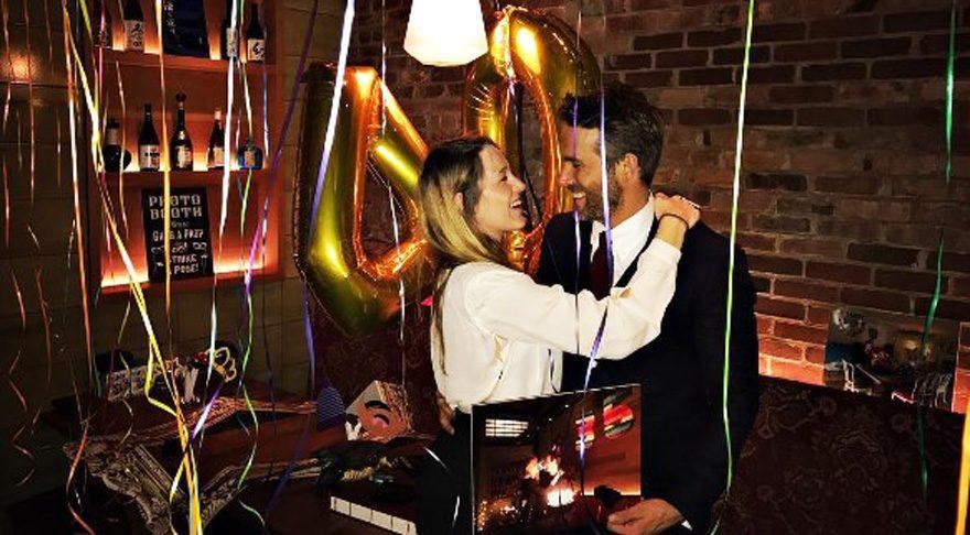 Blake Lively'den Ryan Reynolds'a sürpriz doğum günü kutlaması
