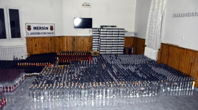 Mersin'de kaçak ve sahte içki operasyonu
