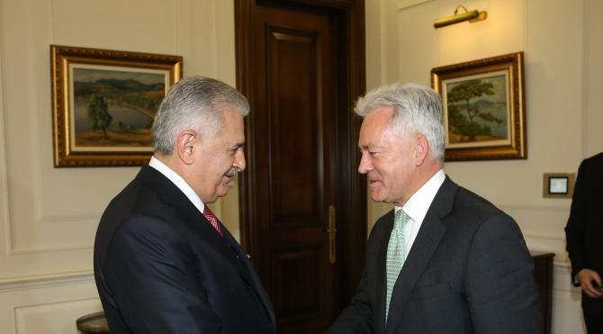 Başbakan Binali Yıldırım, İngiliz Bakan Alan Duncan'ı kabul etti