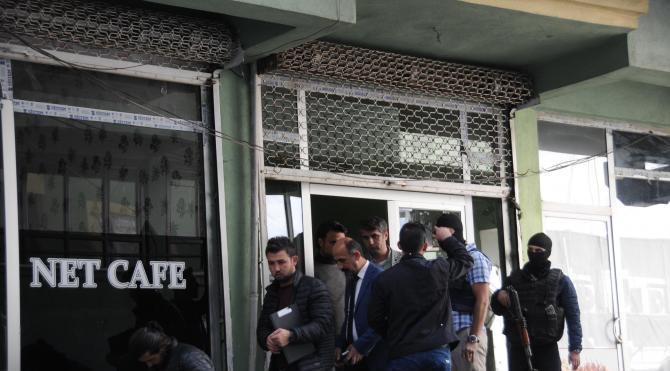 Hakkari'de polis DBP ve HDP binalarında arama yaptı