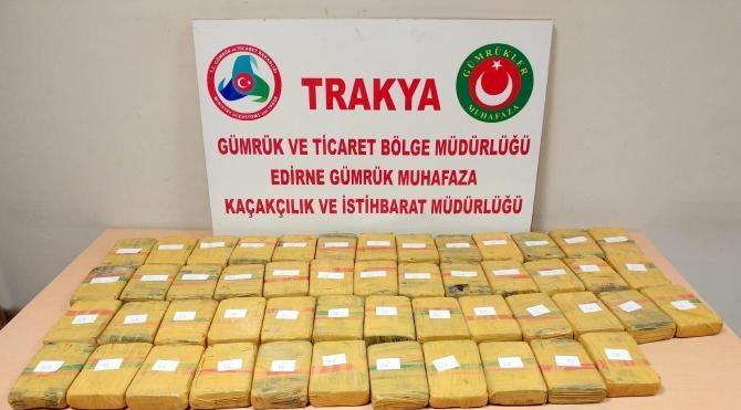 Kapıkule'de 26 kilo eroine 2 tutuklama