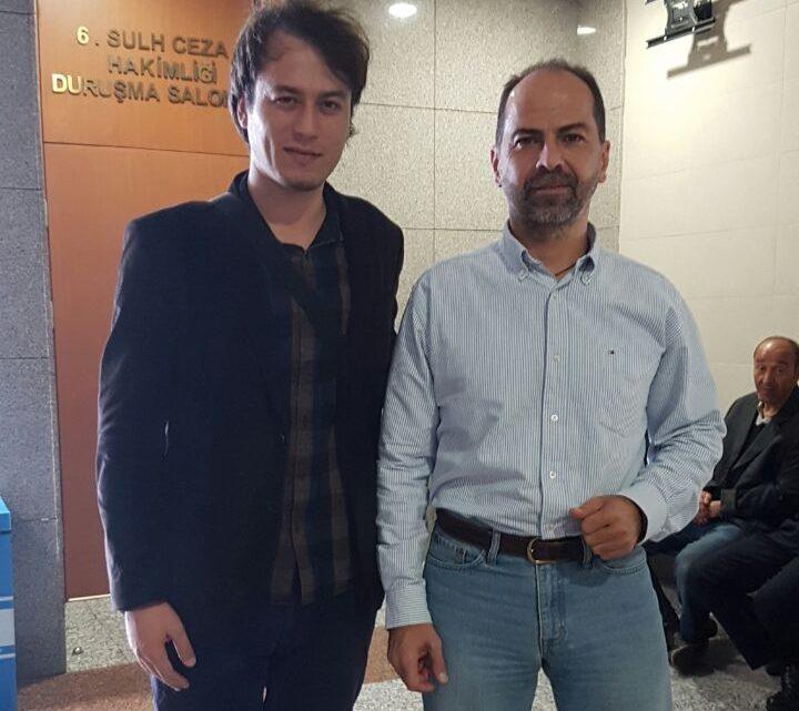 TGB Genel Başkanı Çağdaş Cengiz ve Aydınlık gazetesi Yayın Koordinatörü İlker Yücel de adliyeye gelerek Mahruki'ye destek ziyaretinde bulundular.