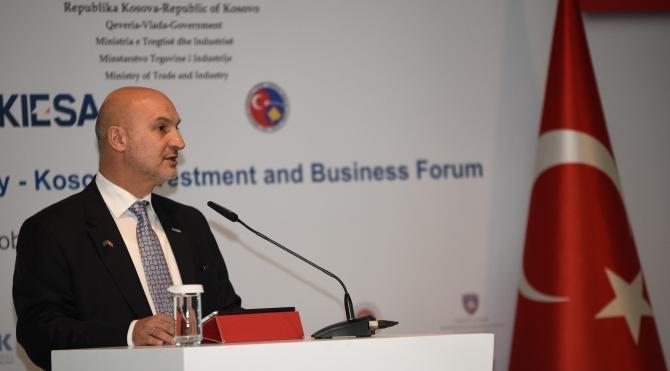 Ekonomi Bakanı Zeybekçi, Türkiye Kosova İş Yatırımı Forumu'na katıldı