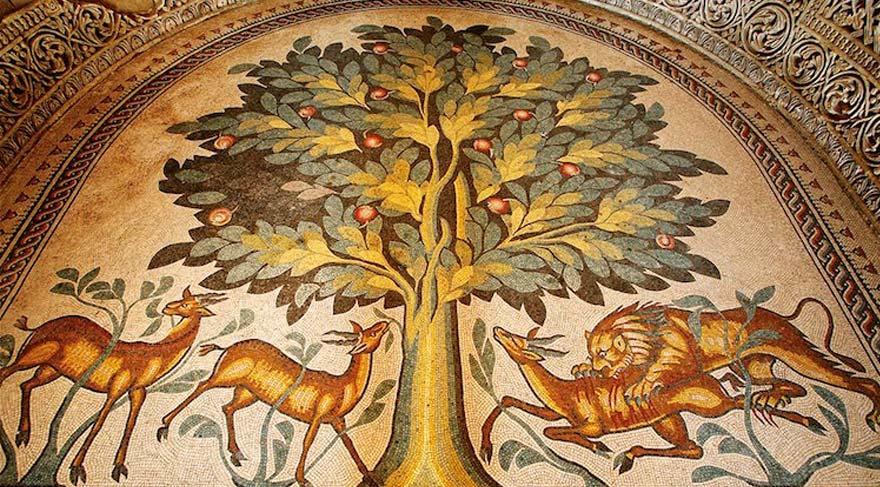 Eriha'daki 1300 yıllık mozaik halkla buluşuyor