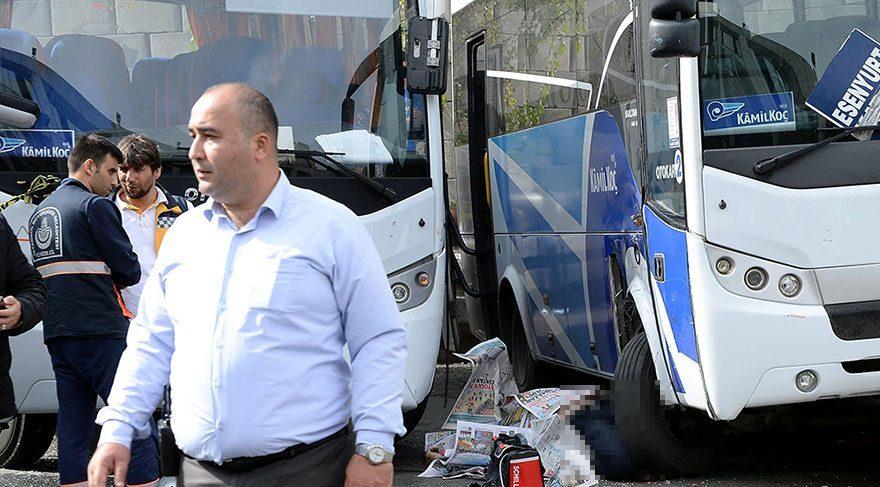 İnanılmaz kaza! Otogarda iki aracın arasında ezildi