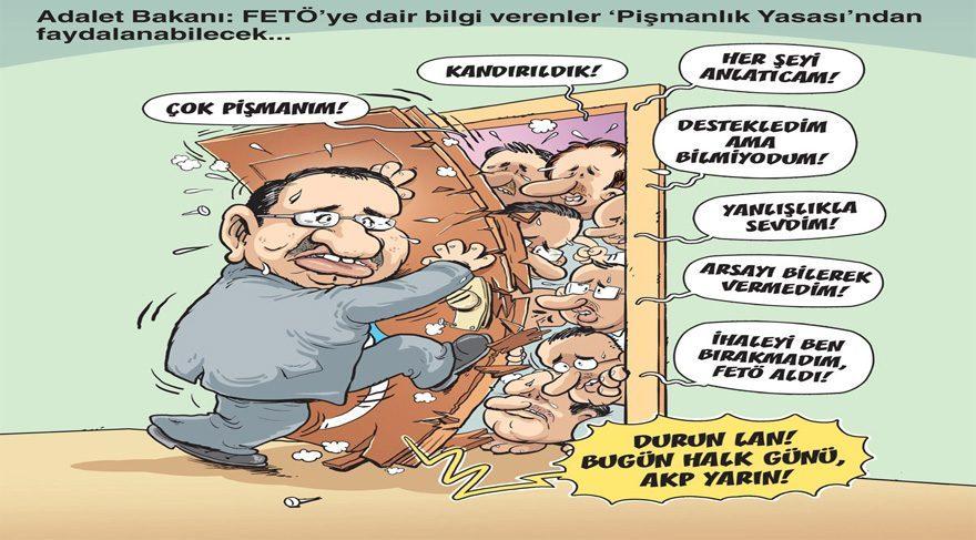 Gırgır dergisi bu haftaki kapağına pişmanlık yasasını taşıyor