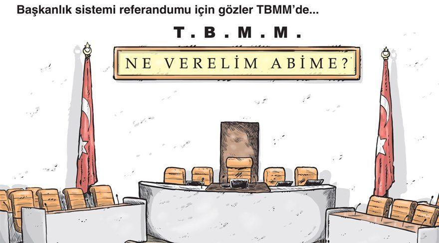 Gırgır bu haftaki kapağına Başkanlık Sistemi tartışmalarını taşımış