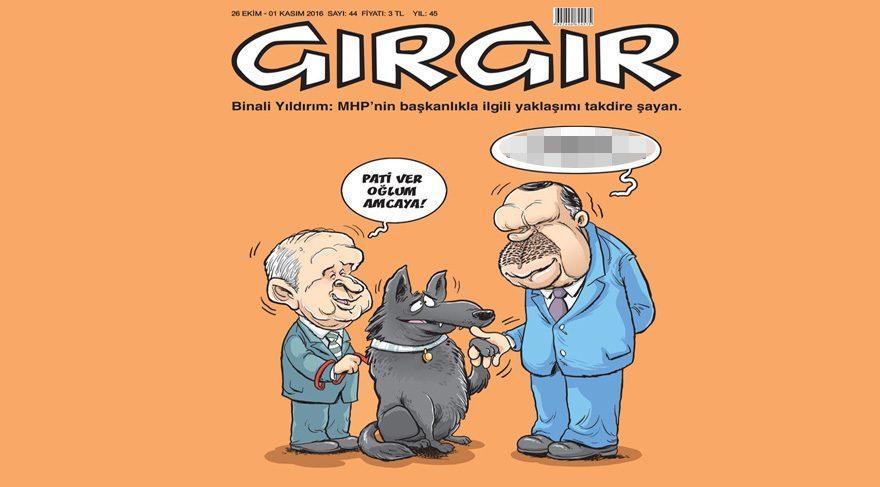 Gırgır bu haftaki kapağına MHP Genel Başkanı Devlet Bahçeli'yi taşımış
