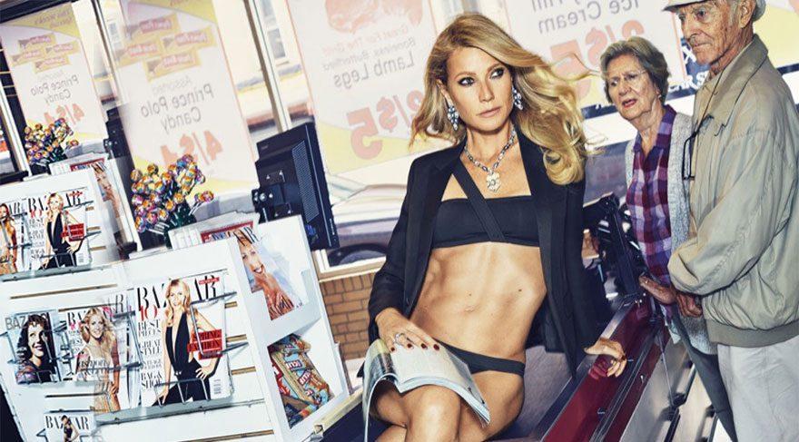 Gwyneth Paltrow'dan iddialı fotoğraf çekimi