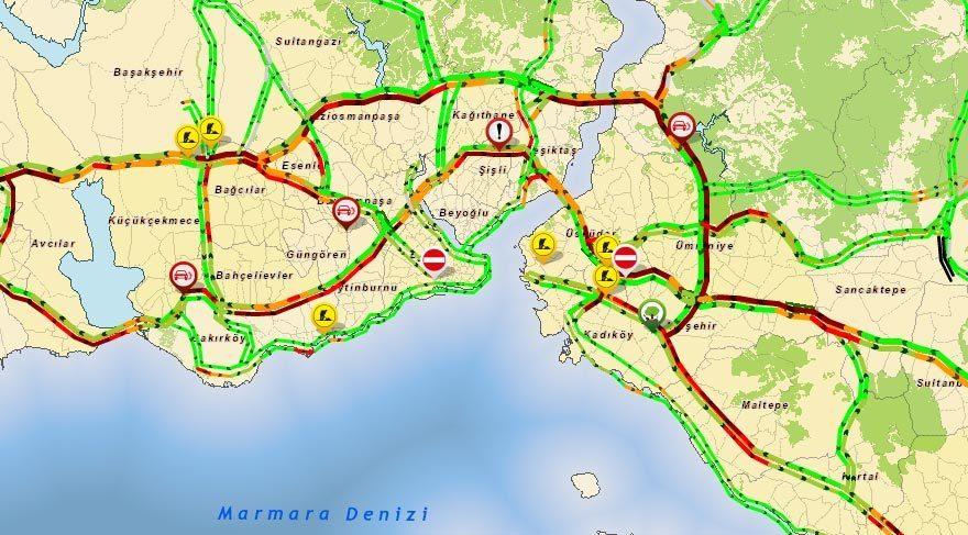 İstanbul trafiği kilit!