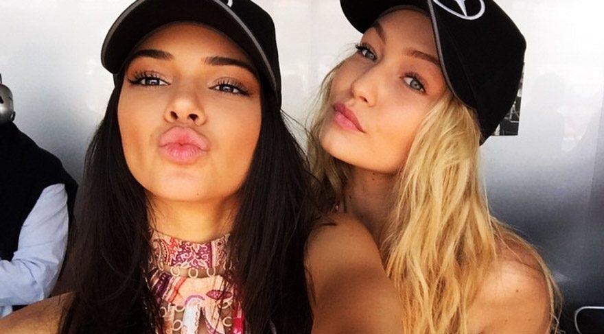 Kendall Jenner ve Gigi Hadid'in fotoğrafları sosyal medyayı salladı
